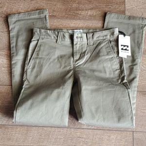 Billabong Carter Stretch Khaki Chino Pants